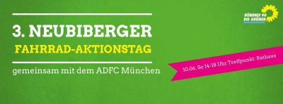 3. FahrRad-Aktionstag: Geführte Radtour mit den Grünen Neubiberg und dem ADFC